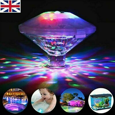 2x Underwater LED Disco Lights Glow Show Swimming Pool Hot