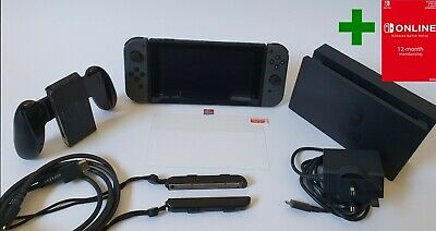Nintendo Switch Grey Console (Improved Battery) Used once +