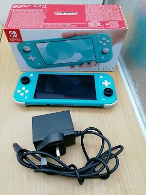 Nintendo Switch Lite Console - Turquoise Boxed VGC - UK