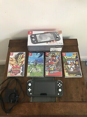 Nintendo Switch Lite Grey Console Excellent Condition with