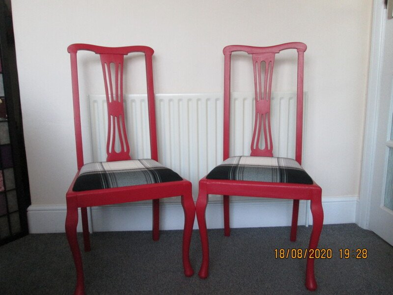 Two dinning room chairs