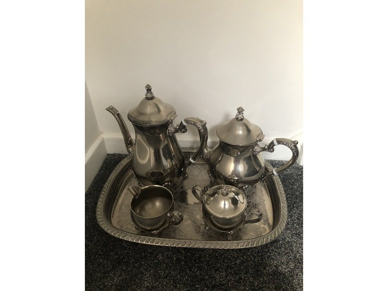 Silver Plated Tea and Coffee set including tray