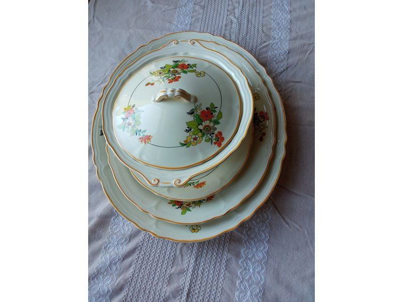 Lovely vintage serving plates and tureen