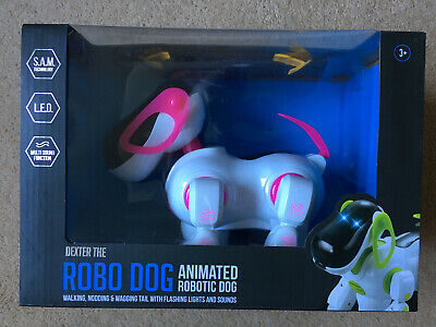 New Dexter The Robo Dog Pink Animated Pet With Lights &