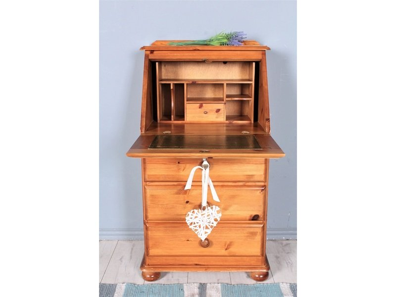 DELIVERY OPTIONS - PINE WRITING BUREAU SITS ON BUN FEET WITH