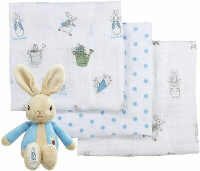 Peter Rabbit PO Kids Soft Toy and Muslin Set