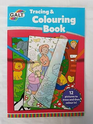 Galt Tracing And Colouring Book. 12 pictures to trace and
