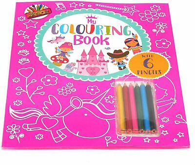 My Colouring Book With 6 Pencils Childrens Activity Kids