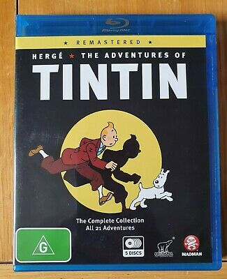 THE ADVENTURES OF TINTIN - THE COMPLETE COLLECTION - BLU RAY