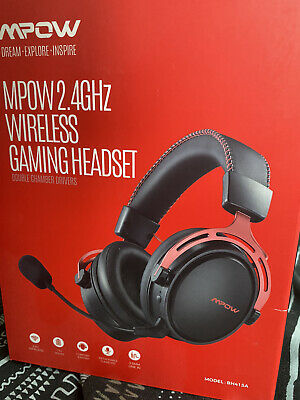 Mpow Wireless Gaming Headset for PS4/PC, Dual Chamber Driver