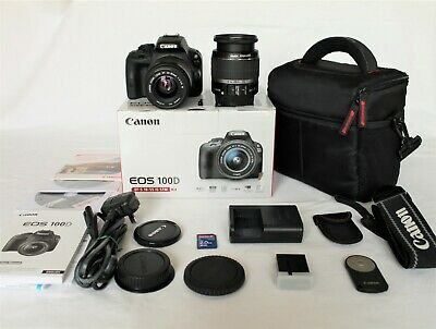 Canon EOS 100D 18.0MP DSLR Camera EF-S mm IS and EF