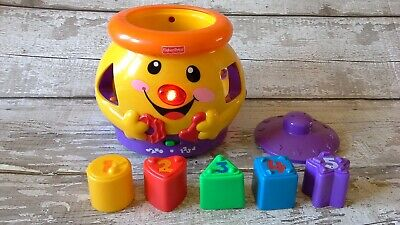 FISHER PRICE LAUGH AND LEARN COOKIE JAR SHAPE SORTER WITH