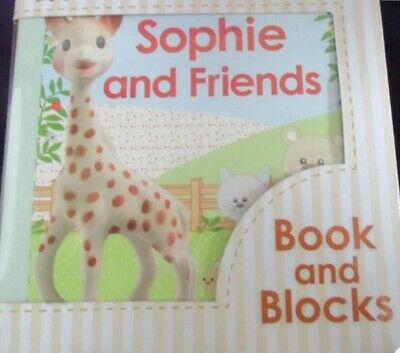 Sophie The Giraffe and Friends Book and Blocks Set Toddlers