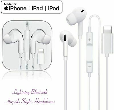 Lighting Earphones For iPhone Earbuds in-Ear Wired Headphone