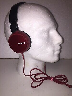 Sony MDR-ZX310 Foldable Headphones - Metallic Red