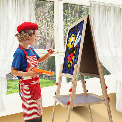 Kids Art 2 Sided Magnetic 3 IN 1 Easel Chalk White Black