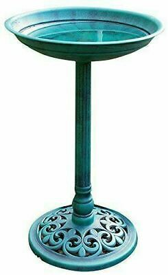 Traditional Pedestal Bird Bath Kingfisher Outdoor Garden