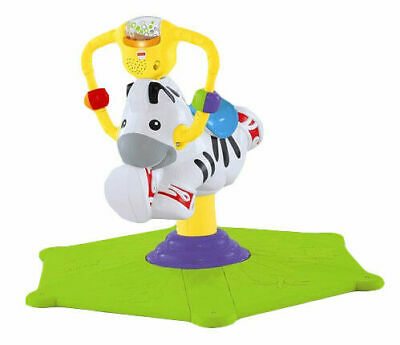 Fisher- Price Bounce & Spin Zebra Toy - Green