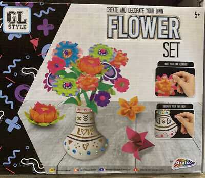 GL Style Create and Decorate Your Own Flower Set