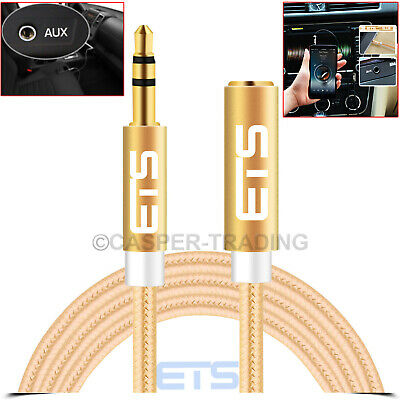 1.5M 3.5mm Jack Male To Female Extension Audio AUX Cable For
