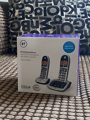 BT  Twin Cordless Phones with Big Buttons Brand New