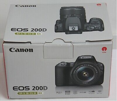 Canon 200D + mm f/ III Zoom Lens BOXED Near Mint