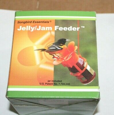 Songbird Essentials Jelly Jam Oriole Bird Feeder w/ Jar &