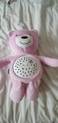 *Baby's Cuddly Toy Pink Bear Musical Night Light Teddy Toy