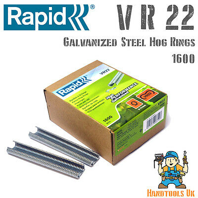 Rapid VR22 Galvanized Hog Rings for FP20 / FP222 Fence