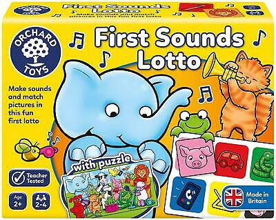 Orchard Toys FIRST SOUNDS LOTTO Educational Toy Game BNIP