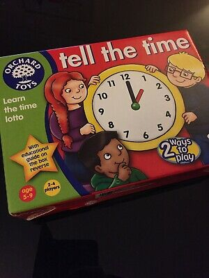 Orchard Toys Tell the Time Game Used Age 5-9
