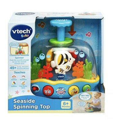 Seaside Spinning Top - Chunky plunger spins the sea animals.