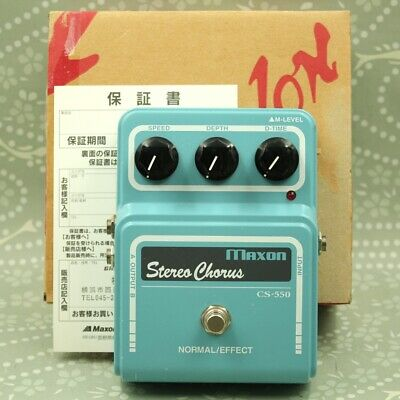 MAXON CS-550 Stereo Chorus With original box MIJ Guitar