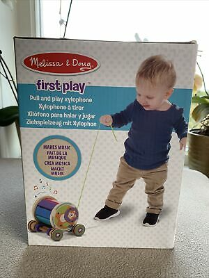 Melissa & Doug First Play Pull Xylophone Makes Music NEW