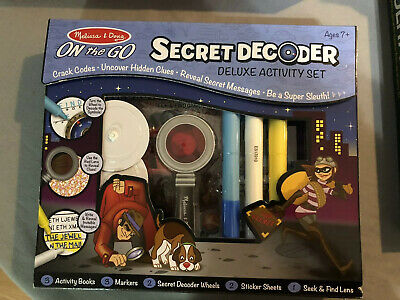 Melissa & Doug Spy Secret Decoder Activity Set - Mysteries -