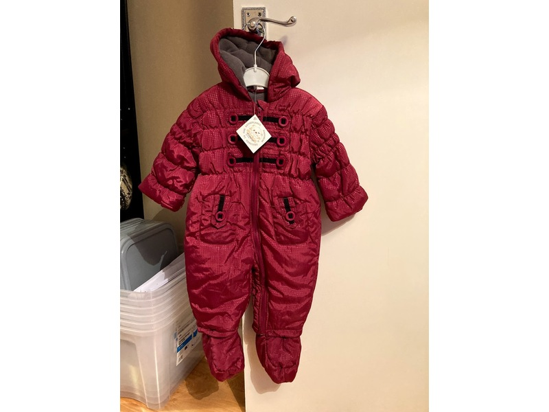 All in one zip up snowsuit