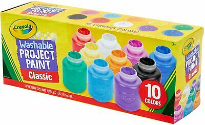 Crayola Washable Kids Paint, Pack of , Assorted Colours
