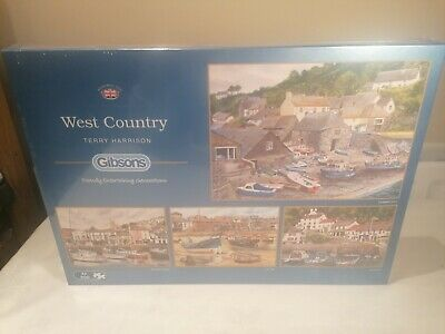 GIBSON 4 X 500 PIECE BRAND NEW WEST COUNTRY JIGSAWS SEALED