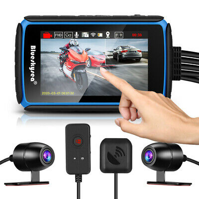 DV° Angle Dual Lens Front & Rear Motorcycle Wifi GPS