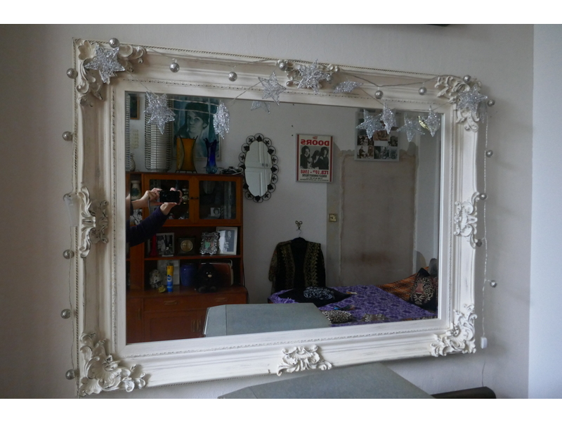 Large Ornate Bevelled Beautiful Mirror
