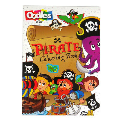 Oodles A4 Illustrated Childrens Colouring Book - Pirates or
