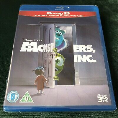 Monsters Inc 3D Blu ray + 2D Blu Ray 2 Discs New & Sealed