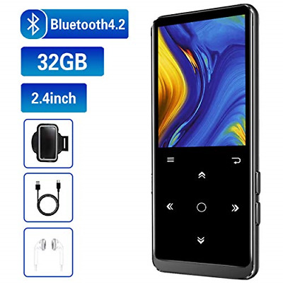 32GB MP3 Player, Mibao MP3 Player with Bluetooth 4.2, MP3