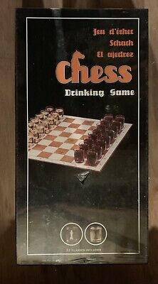 Novelty/fun Vintage Large CHESS Board Game With Drinking