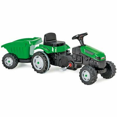 PEDAL OPERATED TRACTOR WITH TRAILER - RIDE ON TOY