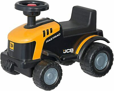 JCB Fastrac Ride-On Tractor in Yellow And Black Kids Sit On