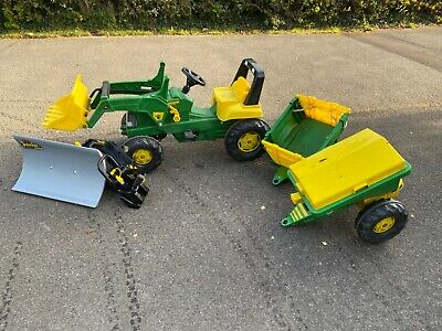 Rolly Toys John Deere Ride-on Tractor Snow plough muck