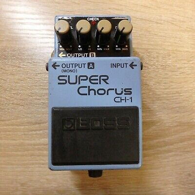 """BOSS CH-1 Chorus Guitar Effect Pedals """"BODY ONLY""""From Japan"""