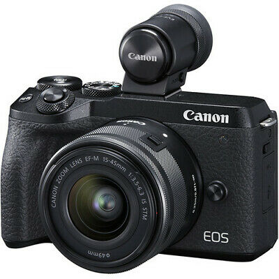 Canon EOS M6 II mm IS STM EVF-DC2 Black (Multi) ship