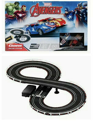 Kids Carrera Marvel Avengers Scalextric Style Toy Racing